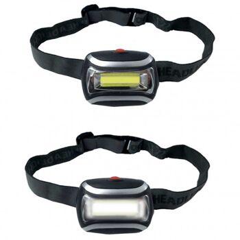 10-985450, LED Kopflampe mit 3 Watt 3 Funktionen (High-Power, Low-Power, Eco-Power, Flash) edles Design, hochwertige Verarbeitung