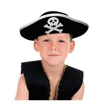 27-15325, Kinder Piraten Hut, Piratenmütze mit Totenkopf, Party