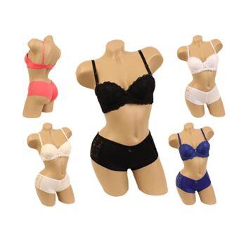 Sexy BH Sets mit Slip Spitze Push-Up Hot Panty String Tanga Modische & aktuelle Farben - nur 2,65 EUR