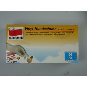 12-4000545, Vinyl Handschuhe 100er Pack, Gr. S, Einweghandschuhe für Haushalt, Hobby, Garten, Werkstatt, Camping usw