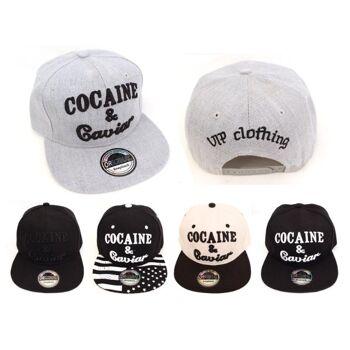 Basecap Cap Caps Kappe Cocaine Caviar Trucker Unisex Skate nur 3,29 Euro