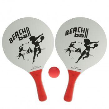 10-546660, Holz Beachball-Spiel
