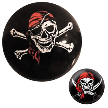 10-583120, Fussball Piratendesign, 20 cm, PVC Ball Fubball, Strandball, Beachball, Wasserball, Spielball