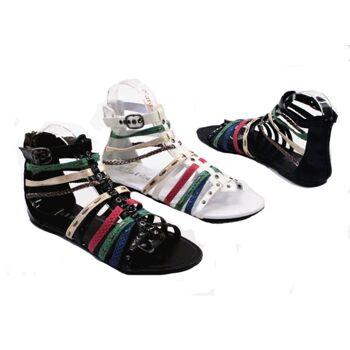 Damen Woman Sandalen Sandaletten Slipper Schuhe Sommer nur 6,45 Euro