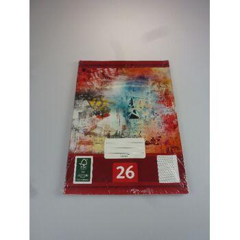 12-544269, Schreibheft 5er Pack, Nr. 26, A4, karriert mit Rand