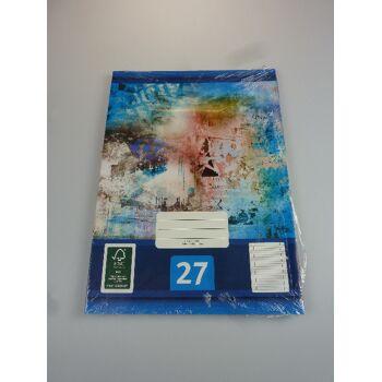 12-544276, Schreibheft 5er Pack, Nr. 27, A4, liniert mit Randlinien