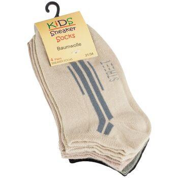 Kinder Baumwoll Sneaker Socken