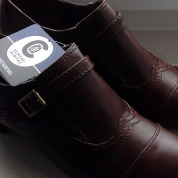 Damen Schuhe HOCHFRONT-Trotteurs IN GRÖßen VON 38 BIS  SCHWARZ UND BRAUN