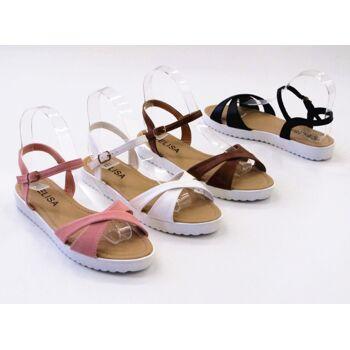 Damen Woman Sandalen Sandaletten Slipper Schuhe Sommer nur 9,05 Euro
