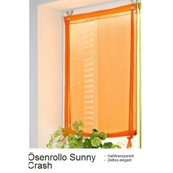 Rollo fürs Fenster in Aprikot  130cm lang 3 Breiten