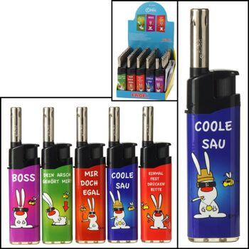 28-094102, Gasanzünder mit Spruch, elektronisch, Feuerzeug, Kaminanzünder, Grillanzünder, Kerzenanzünder