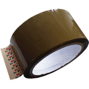 22-21102, Paket-Klebeband braun, 50 mm breit, 66 m Rolle Paketklebeband Packband, Paketband