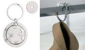 Chiphalter und Taschenhalter inkl. Metall Einkaufswagenchip