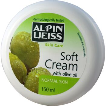 Soft Cream with olive oil, Soft Cream with marigold, Soft Cream with aloe vera
