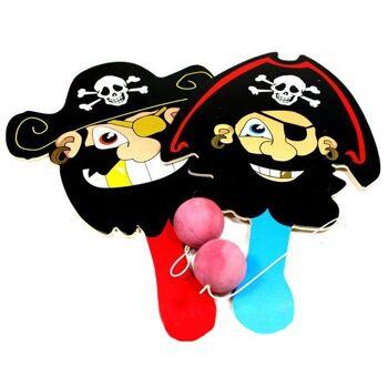 27-41006, Holz Paddel Ballspiel Pirat