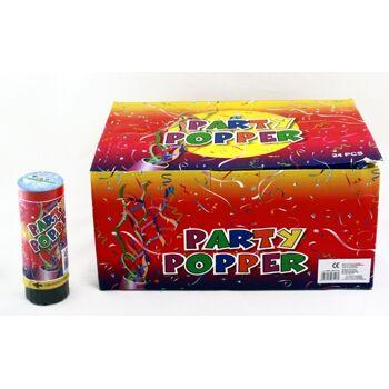 27-41063, Party Popper 11 cm, Konfettibombe, Konfettishooter, Partypopper