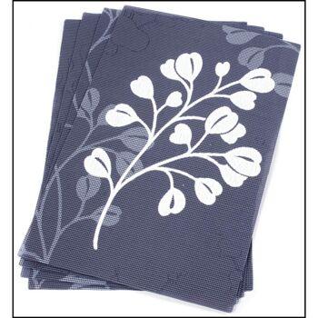 28-040551, Platzdeckchen 4er Set florales Motiv wetterfest, pflegeleicht, waschbar Paltzmatte, Platzhalter