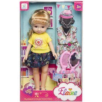 21-1207, grosses Puppen Spielset mit viel Zubehör, Modepuppe, Puppenkleid, usw