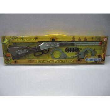 21-2382, COWBOY Spielset 55 cm, mit Zubehör, Westernset mit Gewehr und Zubehör
