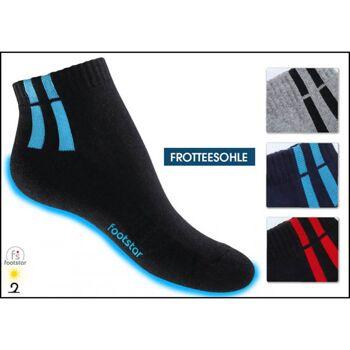 28-746334, Herren Sneaker Socke 3er Pack, Gr. 35/38 -43/46, Frotteesohle, Socken, Strümpfe