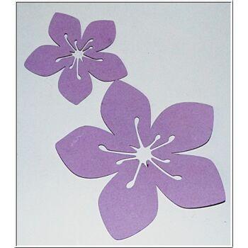 01-po135, gestanzte Hibiskus Look Dekorblüten
