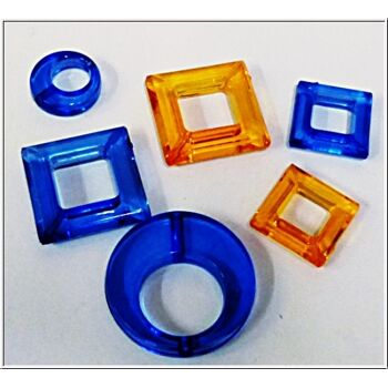 01-po138, Acryl Ornamente für Bastelarbeiten, Deko oder Schmuckherstellung