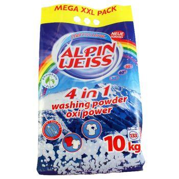 Waschmittel, Vollwaschmittel, Washing Powder,  Alpinweiss 5 kg= 66 WG Plastikbeutel, OXI POWER