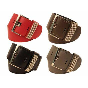 Damen Gürtel Mix verschiedene Farben Modelle Größen 75-100 cm - nur 1,79 Euro