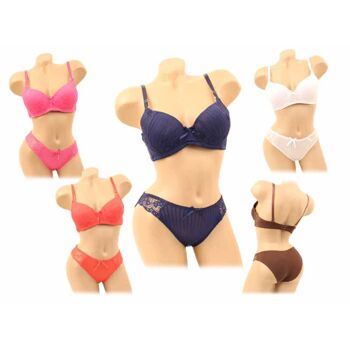 Sexy BH Sets mit Slip Spitze Push-Up Hot Panty B-Cup Modische & aktuelle Farben nur 2,69 EUR