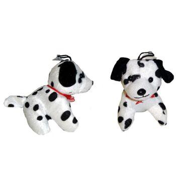 06-3132, Plüsch Dalmatiner mit roter Schleife, Plüschhund