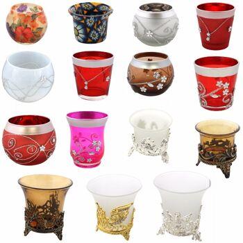 100 Diverse Teelichhalter/Kerzenhalter