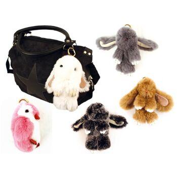 Trendige Accessoires Taschen Anhänger Tiere Echtes Fell Schlüsselanhänger nur 7,90 Euro