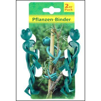 28-026323, Metall Pflanzenbinder 2er Set, Frosch 130 mm