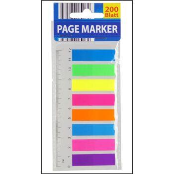 28-026484, Markierstreifen 200er Pack auf Lineal, Textmarkerstreifen, 45 x 12mm