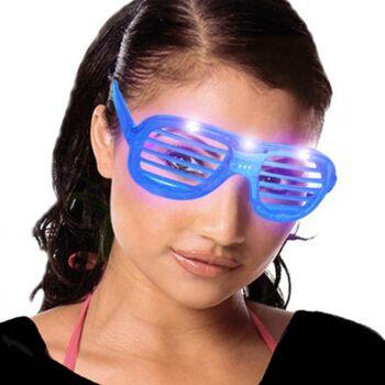27-45834, LED Party Brille Party-Atzenbrille mit LED-Licht
