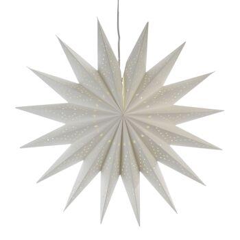 17-33799, XXL Dekoleuchte Stern 60 cm, Dekolampe, weichnachtlich