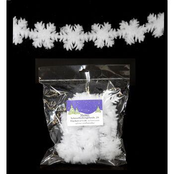 17-90241, Schneeflockengirlande  180cm TOP als Deko, Weihnachten, Eisenbahn, usw