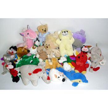 Plüschsortiment bis 15 cm, Wurfartikel, Karneval, Party, Geburtstag, Plüsch Sortiment Kuscheltiere, Spieltiere+++++