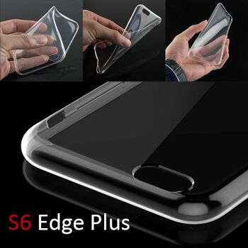 Samsung S6 Edge Plus / Clear TPU Silikon Case / Transparent