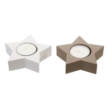 17-71770, Holz Teelichthalter Stern 10 cm