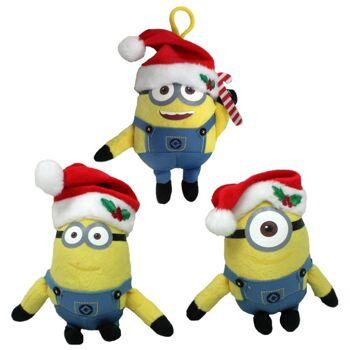 27-12376, Weihnachtsminion an Clip /Karabiner, Plüschfigur Minions Weihnachten+++++++