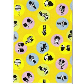 Geschenkpapier Kinder 2 m x 0,70 m 5 versch. Motive, im Display Karton