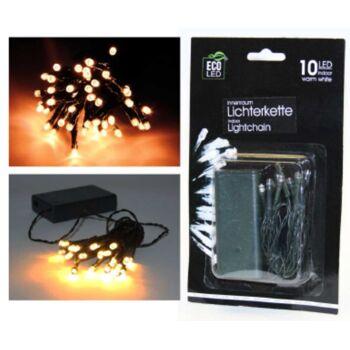 12-22050, LED Lichterkette mit 10 LEDs, grünes Kabel, Weihnachtslicht, Baumlicht