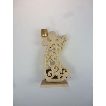 12-802476, Holz Engel Kerzenhalter 19,5 cm, statt 5,99, schöne Weihnachtsdeko+++++