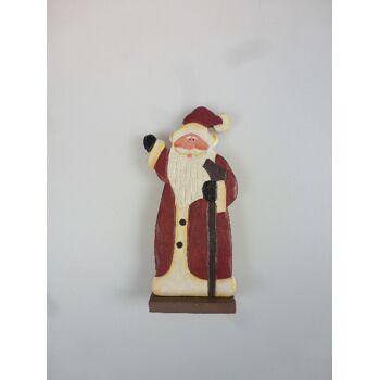 12-88816, Holz Weihnachtsmann 14 cm, Nikolaus, TOP Dekoartikel