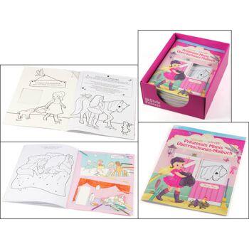 28-244224, Prinzessin Mimis Überraschungs-Malbuch, zum Ausmalen und Ausschneiden, statt 3,95 - SONDERPOSTEN+++++++