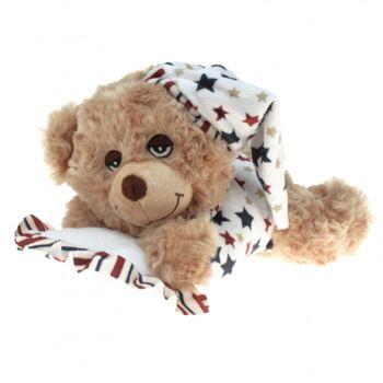 10-132080, verträumte Schlaf-Bären 32 cm, inkl. Schlafmütze und Kissen, Plüschbär, Kuscheltier, Spieltier