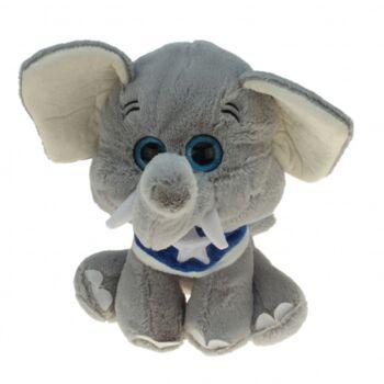 10-185830, Zirkus Elefanten 20 cm mit Halstuch, Plüschtier, Kuscheltier, Spieltier, Zootier, Wildtier, Waldtier