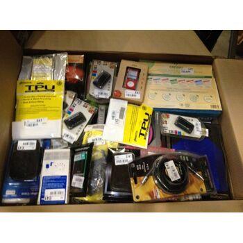 Handyzubehör Markenprodukte Mischkartons: Displayfolien, Handyhüllen, Etuis, Ladegeräte u.v.a.