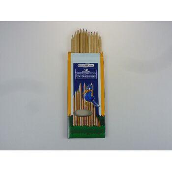 12-3878651, Holz Natur-Buntstifte 12er Pack, Malstifte